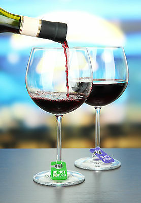Set of 6 Fred Silicone Do Not Disturb Wine Charms Drink Alcohol Beer Restaurant