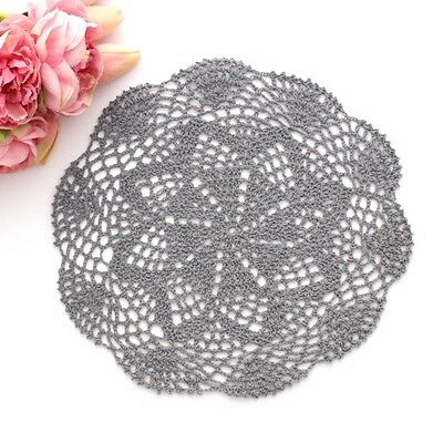 Crochet doily in Grey 28 - 29 cm for millinery , hair and crafts