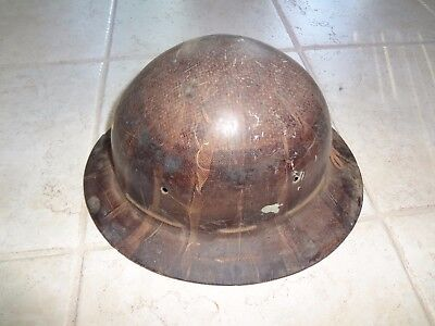 Vintage old school  Hard Hat Iron Worker, construction worker,Miner Full Brim .