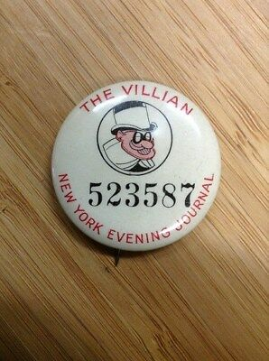 Comic Strip Character Pinback Button-The Villian-Vintage-1930's-NICE!!-L@@K!