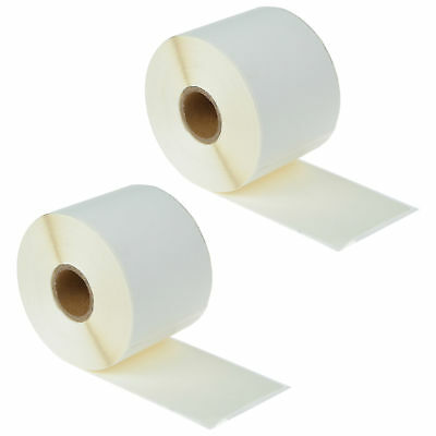 """2 Rolls White Shipping Labels Compatible For Dymo 30256 300 310 315 2-5/16"""" x 4"""""""