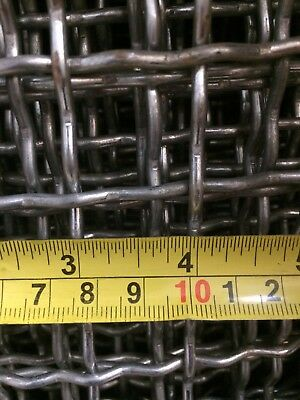 Galvanised woven wire mesh 22mm and 16mm aperture