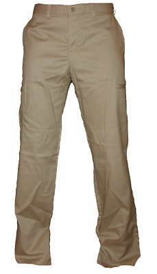 Dickies Women's Relaxed Straight Cargo Khaki Work Pants FP223, Stretch Twill