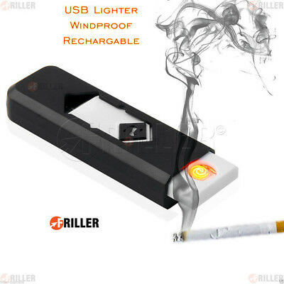 New Windproof Flameless Coil Cigarette Electric Battery USB Lighter Rechargeable