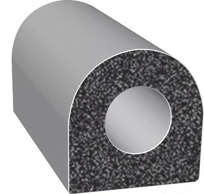 TRIM LOK INC EPDM Rubber Seal,D-Section,0.5 In W,25 Ft, X202HT