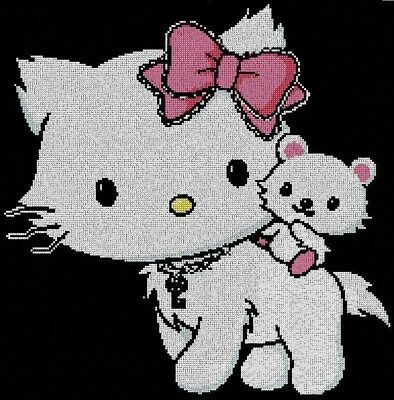 ref 55 hello kitty-Gráficos punto de cruz/puntada cruzada/Cross Stitch chart