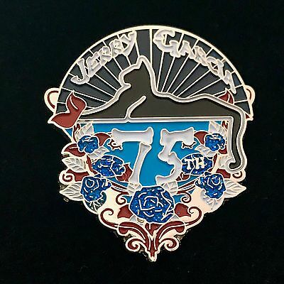 Grateful Dead/Jerry Garcia 75th Birthday Hat Pins -LE 75  BLUE ROSES