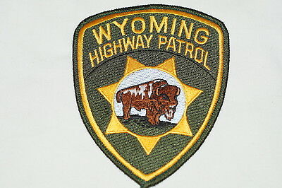 US Highway Patrol Wyoming Police Patch 1