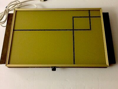 Cornwall Thermo Glass Electric Food Warmer Tray Mid Century Vintage Very Nice