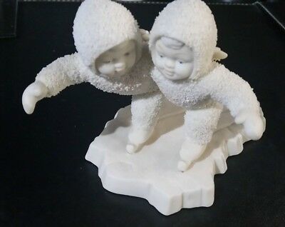 "Snowbabies 'We Make A Great Pair"" (Ice Skaters)- By Department 56 - RARE Retired"