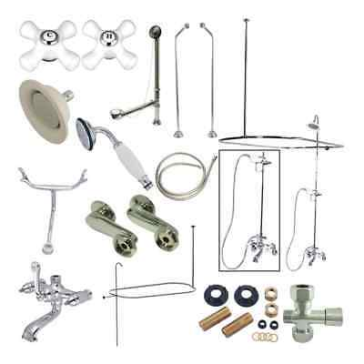 Kingston Brass Vintage Claw Foot Shower Packages Tub Spouts and System CCK1181PX