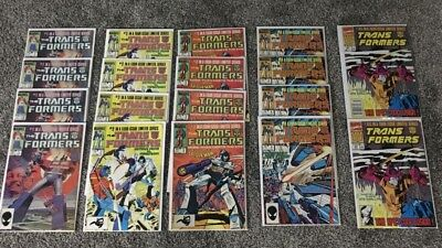 Marvel Transformers Comics lot 1st print Issues 1-4 limited series and #80