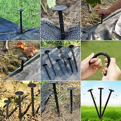 50 x 11/16/20cm Fixing Pegs For Ground Cover Weed Control Fabric Membrane Exotic