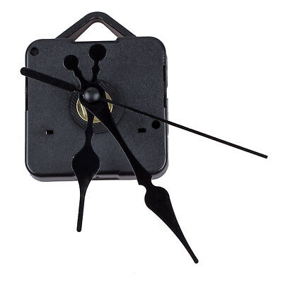 Clock Movement Mechanism with Black Hour Minute Second Hand DIY Tools Kit L6H7