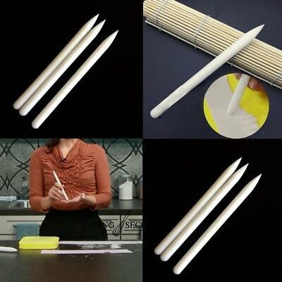 White Non-stick Fondant Roller Plastic Rolling Pin Cake Pastry Cook Baking Tools