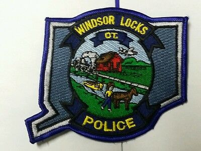 Rare Winsor Locks, Connecticut Police Shoulder Patch Ct