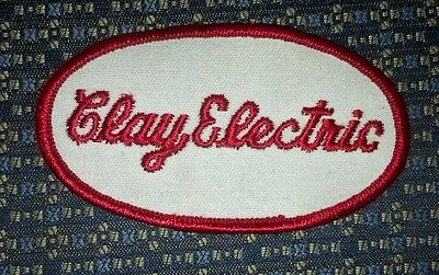 "CLAY ELECTRIC Iron or Sew-On PATCH 3.5"" X 2"""