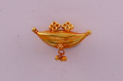 Vintage Antique 20K Gold Pendant Necklace Amulet Tribal Gold Jewelry India 102