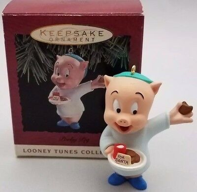 "Looney Tunes ""Porky Pig"" Hallmark Keepsake Ornament 1993"