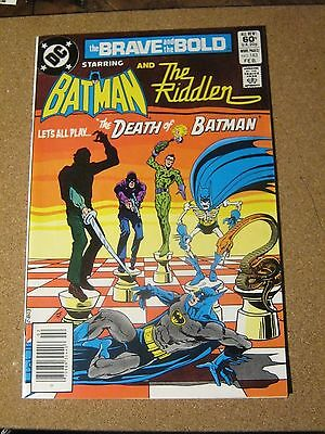 Brave and the Bold #183 February 1982 Batman and The Riddler Jim Aparo