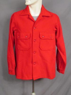 Vintage 1950s Boy Scouts Official Red Wool Camp Jacket Bakelite Buttons BSA Nice