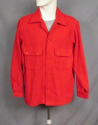 Vintage 1950s Boy Scouts Official Camp Jacket Red Wool w/Bakelite Buttons BSA #2