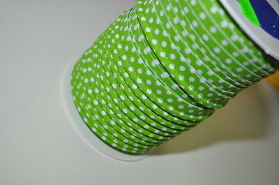 PIPING band Biese 1 Meter Sewing Haberdashery 100% Cotton POINTS lime green