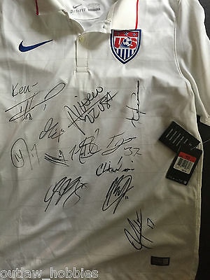 2014 USA World Cup  12 x Team Signed Autographed MLS Soccer Jersey COA