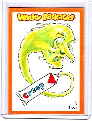 """2012 Wacky Packages ANS9 RARE Color Sketch """"CREEP TOOTHPASTE"""" by Fred Wheaton"""