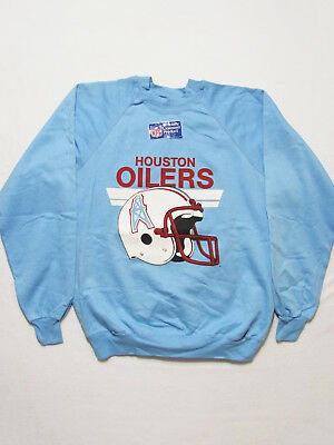 vintage 80s NEW DEADSTOCK HOUSTON OILERS FOOTBALL NWT 50/50 soft sweat-shirt M