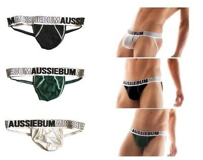 AussieBum Mens Enlargeit Jockstrap Underwear Jock Brief Gay Sports S M L XL Size
