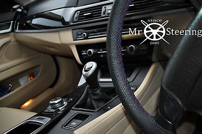 For Nissan Dualis 06-12 Perforated Leather Steering Wheel Cover Purple Double St