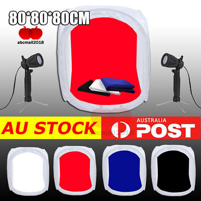 "32"" 80cm Photo Studio Soft Box Tent Light Cube Photography Softbox Lighting Kit"