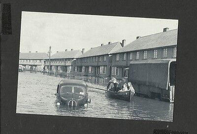 Nostalgia Postcard Rescued by Boat-Great Flood Disaster Canvey Island Essex 1953
