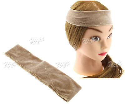 Flexible Velvet Wig Grip Scarf Headband Wiggery Accesseries Hair Fasterner Beige