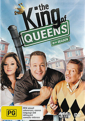 The KING OF QUEENS Season 8 New but UNSEALED 3-DVD Set Region 4