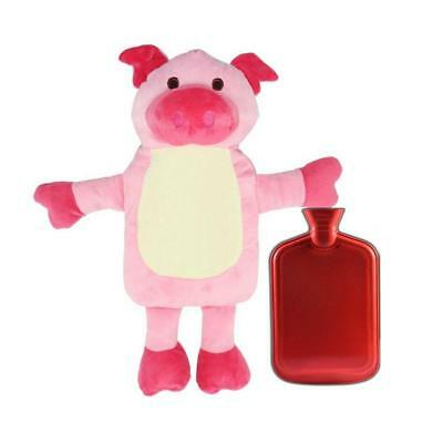 Animal Covers Piggy Zebra Bear Hand Warmer Water Filling Hot Water Bottle Bag