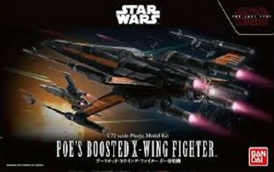 Bandai Star Wars Poe's Boosted X-Wing 1/72 Plastic model kit Japan Import F/S