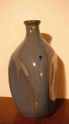 Blue Fulper 3- Sided Vase