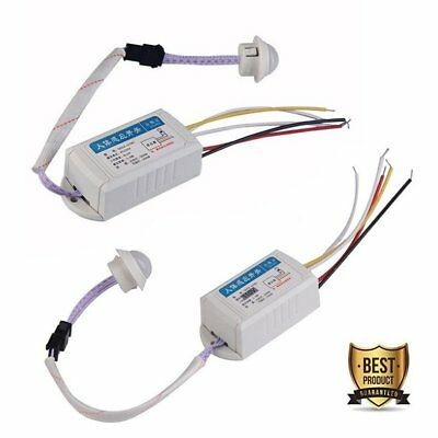 220V IR Infrared Body Motion Sensors Automatic Light Lamp Control Switch White