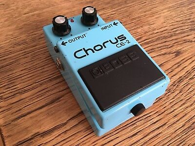 Boss CE2 Chorus Guitar Effects Pedal Japan Green Label 1986 CE-2