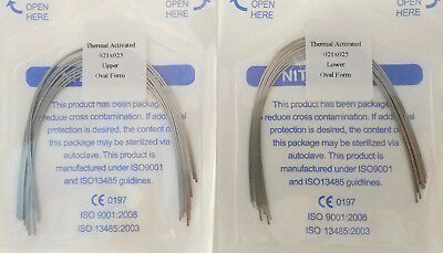 Orthodontic Arch Wire Thermal Activated Rectangular Niti 21X25 U/L Dental 10Pks