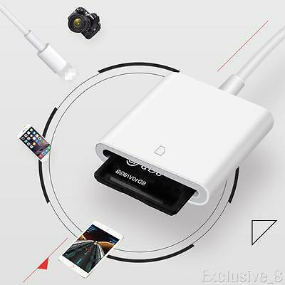 LightningCamera SD Card Reader Adapter Cable for iPhone 7 Plus 6S Apple iPad Pro