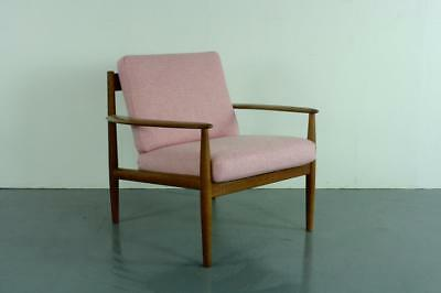 GRETE JALK LOUNGE ARM CHAIR FRANCE & SON DANISH MIDCENTURY IN PINK  #2019c
