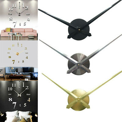 DIY Large Silent Quartz Wall Clock Movement Hands Mechanism Repair Parts Tool TY