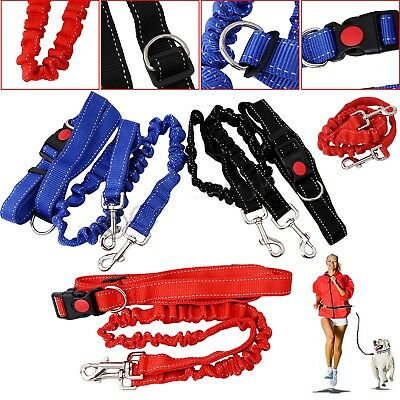 Adjustable Hands Free Pet Dog Leash Lead Waist Belt For Jogging Walking Running