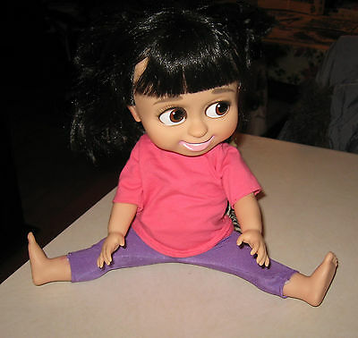 """DISNEY MONSTERS INC. BABBLING BOO 11"""" DOLL TALKING / LAUGHING works !"""