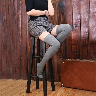1 Pair Boot Socks Lady Wool Cashmere Winter Warm Knee-High Tights Stockings Soft