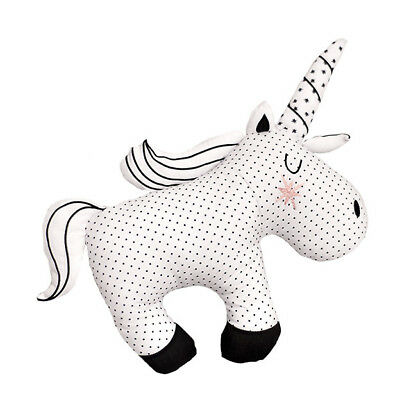 Bizzi Growin Little Dreamers Unique Black & White Unicorn Cushion