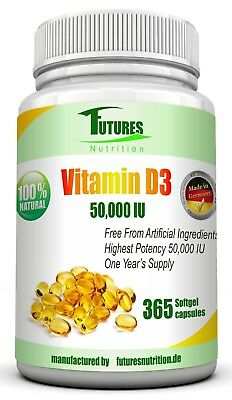 Vitamin d3 50,000 IU 365 soft gel softgel capsules super strong TOP Price